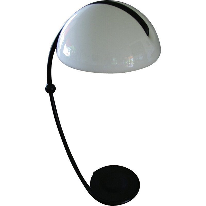 Vintage Snake lamp by Elio Martinelli in black color - 1970s