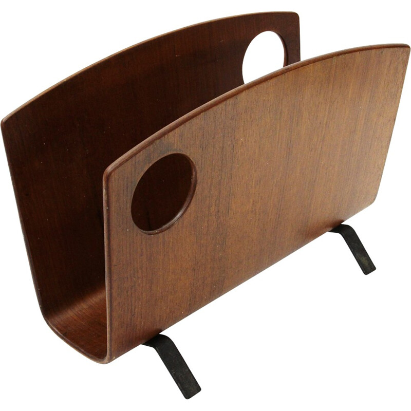 Magazine rack in Plywood by Campo & Graffi for Home - 1950s