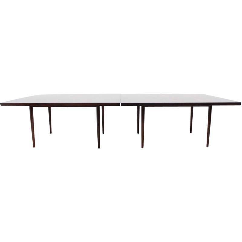 Large Vintage Rosewood Conference Dining Table By Sibast - 1960s