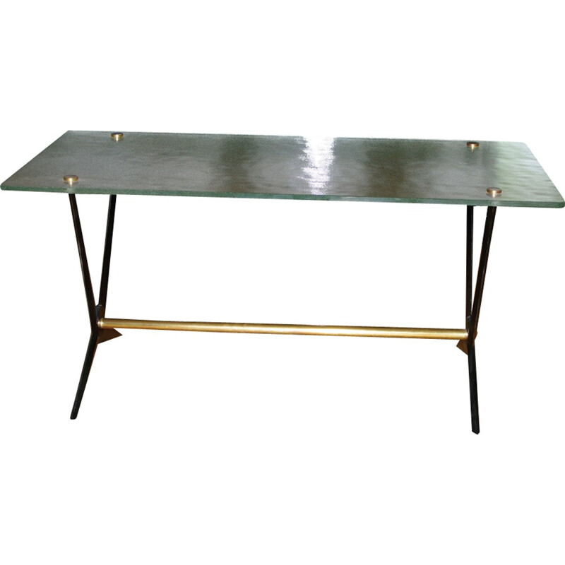 Vintage coffee table in aluminium byAngelo Ostuni - 1950s