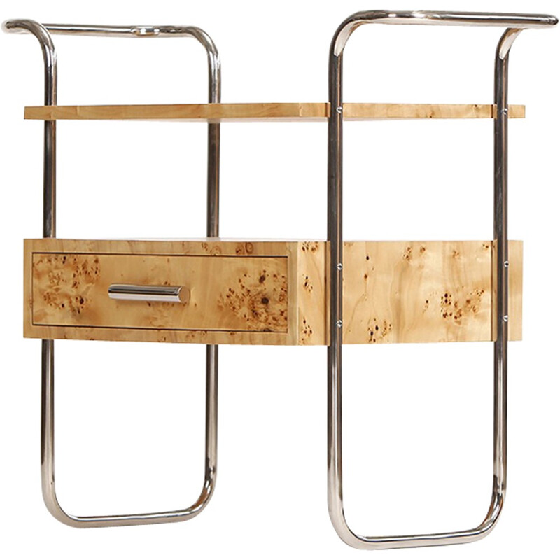 Vintage Birch Veneered Console Table - 1950s