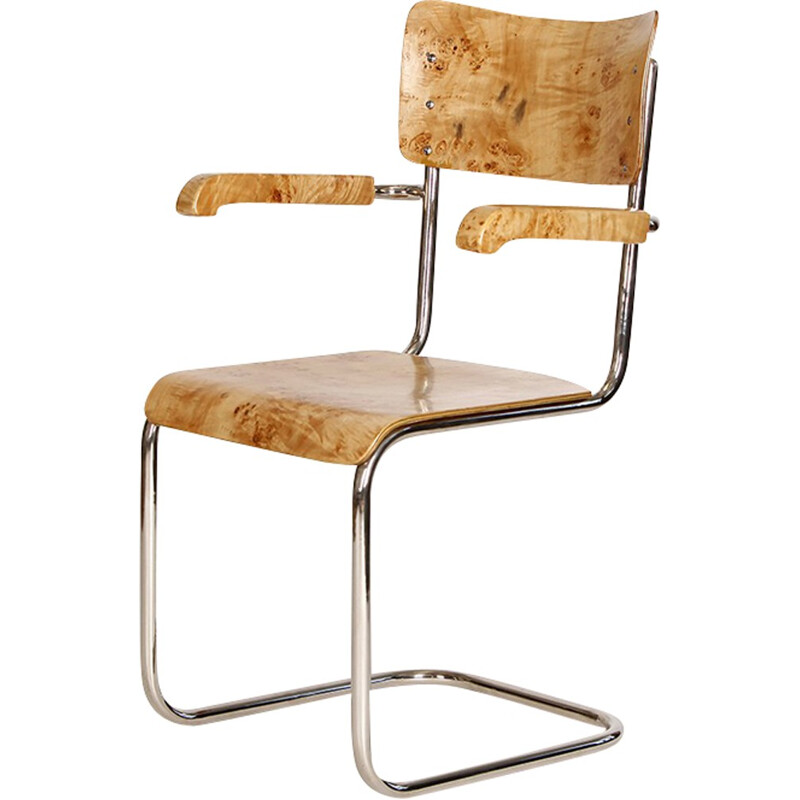 Vintage Tubular Steel Chair by Vichr - 1930s