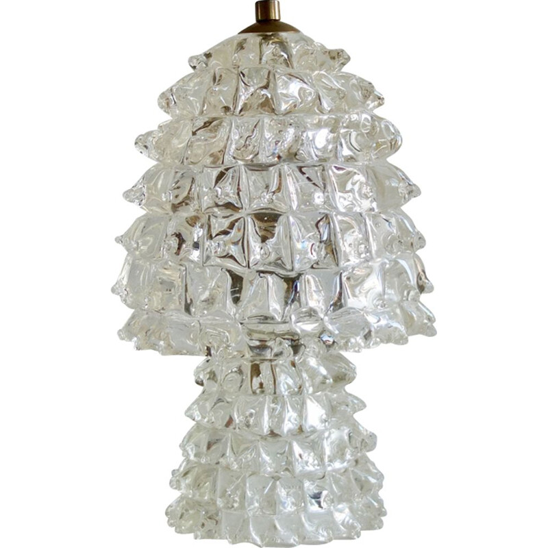 Vintage Murano glass bedside lamp by barovier - 1940s