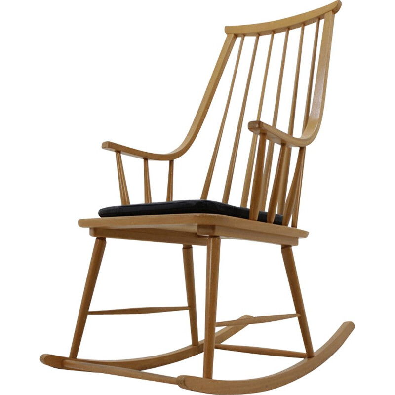 Vintage scandinavian rocking chair - 1970s.