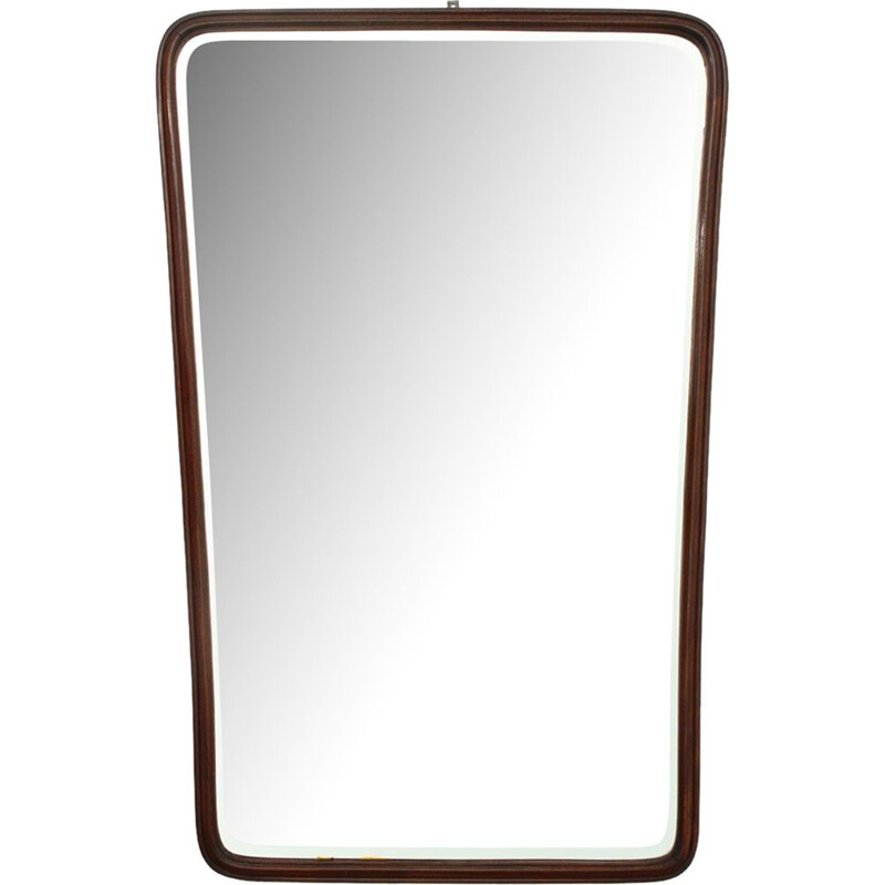Italian mirror with wooden frame - 1950s