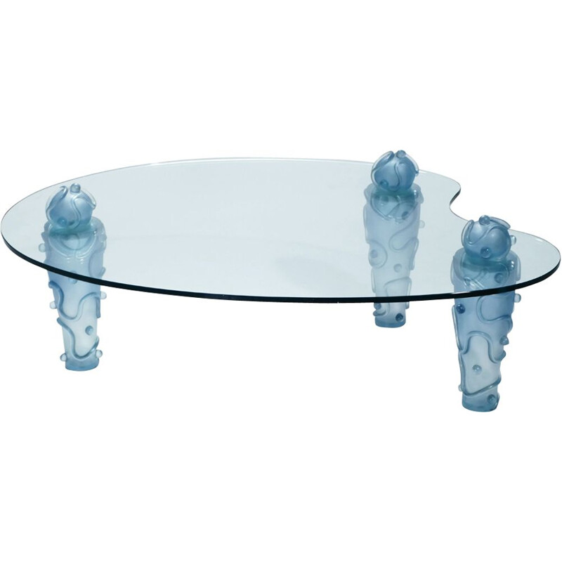 Vintage French coffee table in resin and glass by Garouste & Bonetti - 1990s