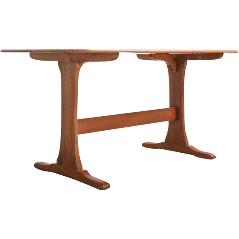 Vintage dining table in elm by Lucian Ercolani from Ercol - 1960s