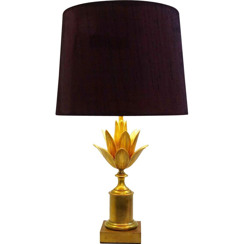 "Vintage French table lamp ""Lotus"" by Maison Charles - 1960s"