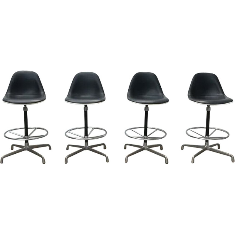 Set of 4 stools by Eames for Herman Miller - 1960s