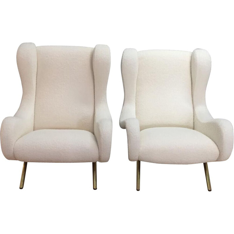 "Set of 2 vintage armchairs ""SENIOR"" by Marco Zanuso for ARFLEX  - 1950s"