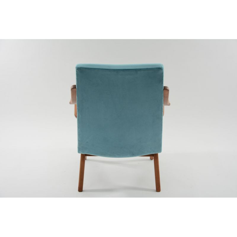 Czechoslovak Vintage Blue Velvet Armchair 1960s Design Furniture Previous