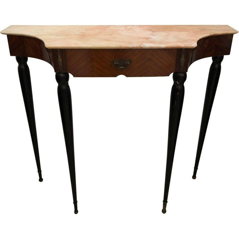 Vintage rosewood italian console - 1950s
