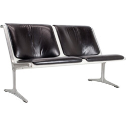 1200 Bench in leather, aluminum and fiber glass, W.F KRAMER - 1960s