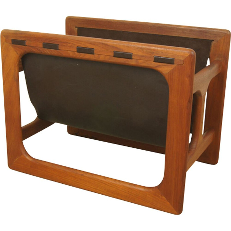 Vintage Danish magazine rack in teak by Salin Møbler - 1960s