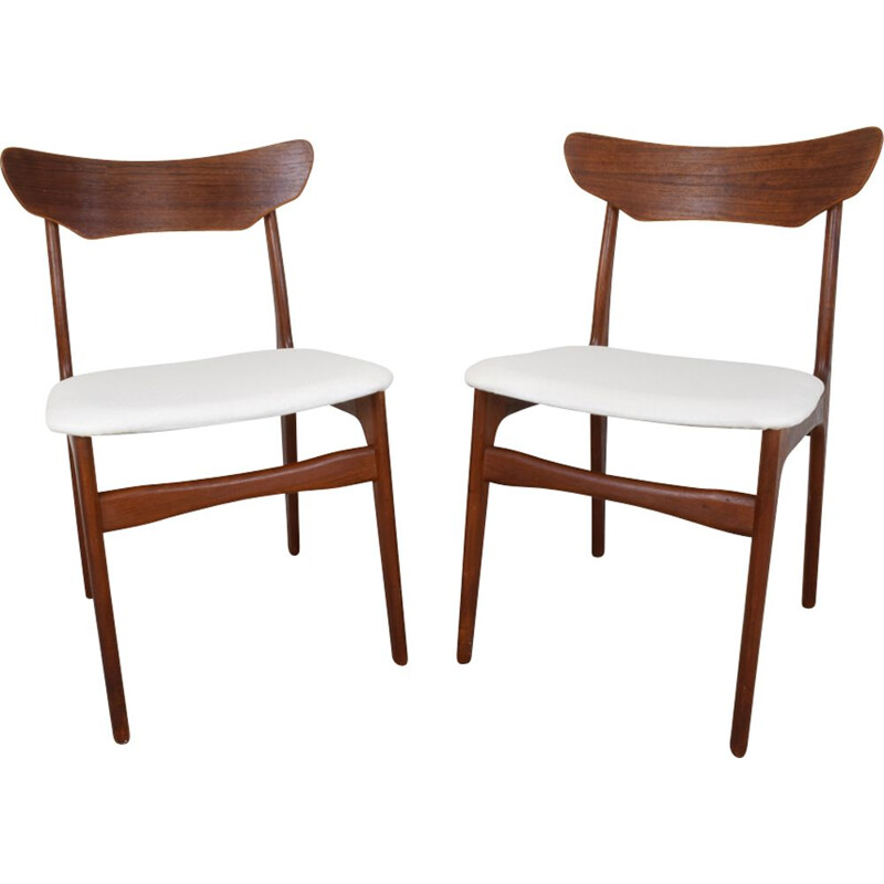 Set of 2 danish dining Chairs in teak by Schionning & Elgaard For Randers Møbelfabrik - 1960s