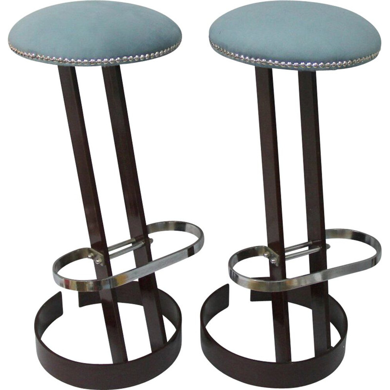 Set of two vintage spanish stool - 1960s