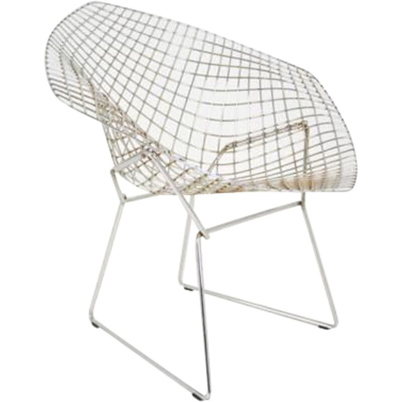 "Vintage armchair ""Diamond"" by Harry Bertoia for Knoll - 1970s"