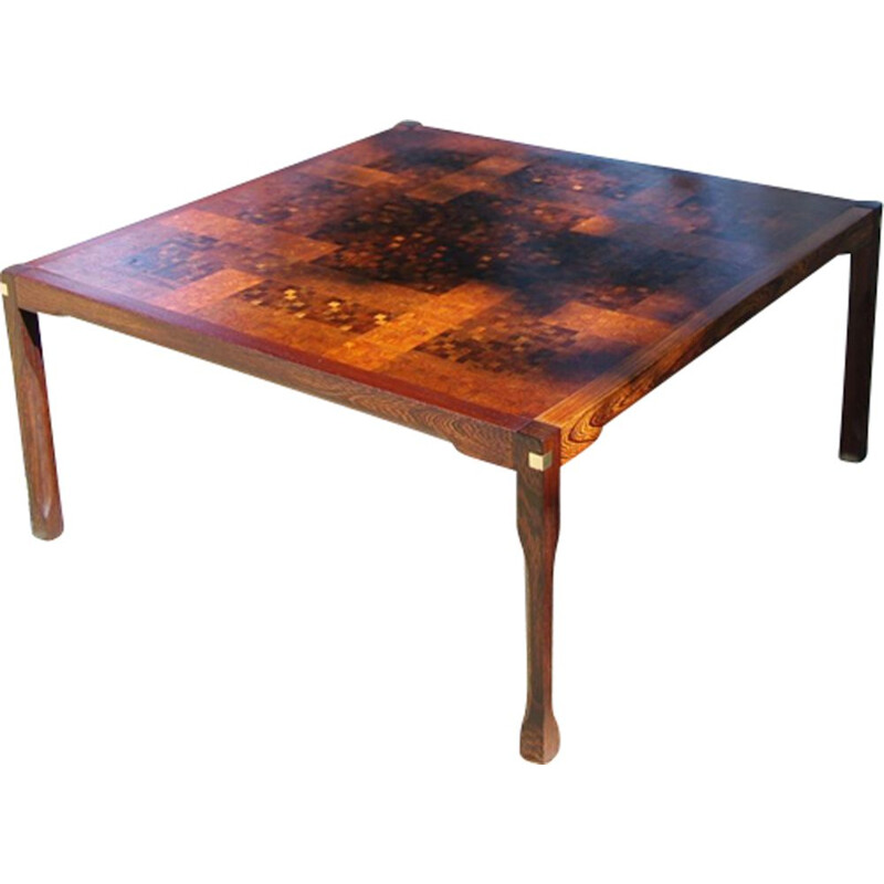 Coffee Table vintage in wood by Middelboe & Lindum - 1970