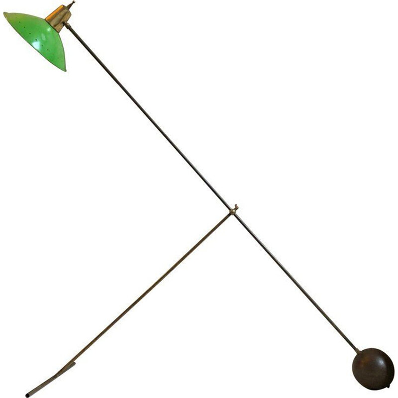 Vintage Green Italian Floor Lamp - 1950s