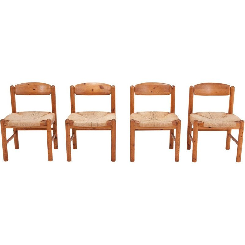 Set of 6 Rainer Daumiller Dining Chairs in Solid Pine - 1970s
