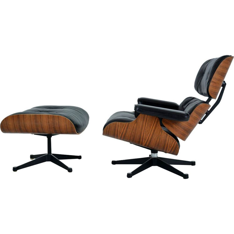 Lounge chair & ottoman by Charles and Ray Eames - 1970s