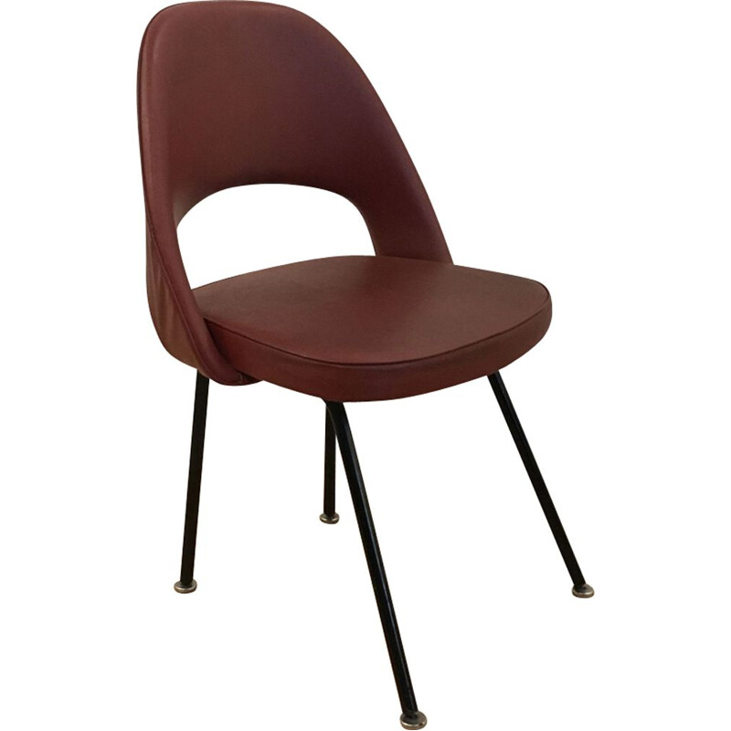 Vintage red conference chair n 71 by Eero Saarinen for Knoll - 1950s