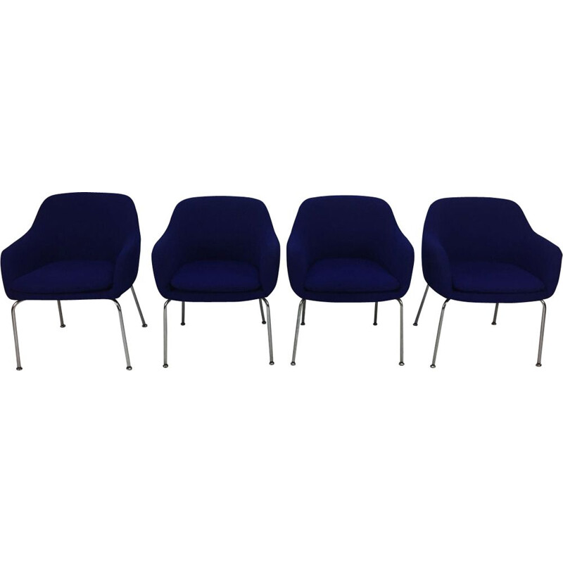 Vintage set of 4 easy chairs for Artifort