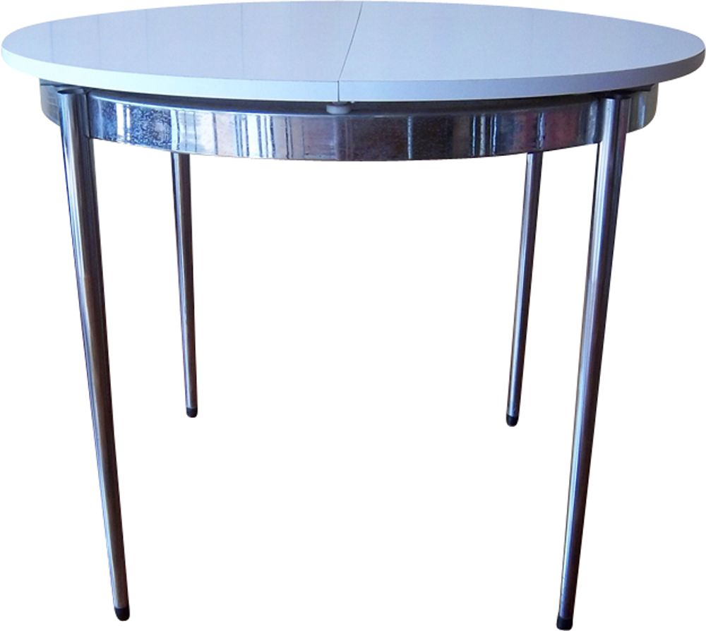 Vintage Round Coffee Table In White Formica Previous Next