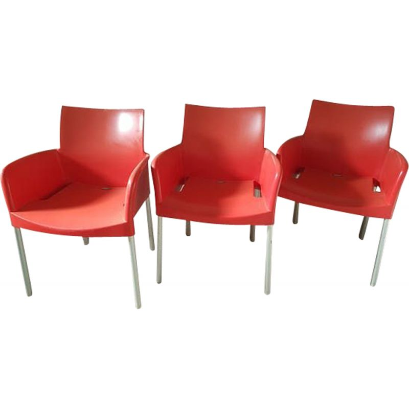 Vintage set of 3 armchairs for Pedrali