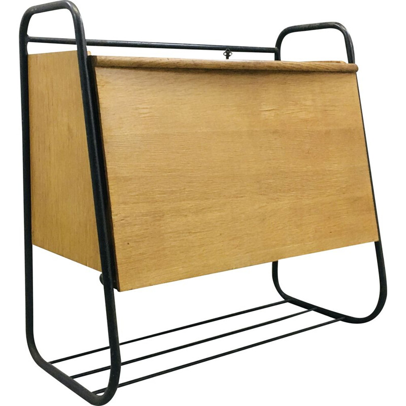 Vintage wall writing desk by Jacques Hitier for Tubauto