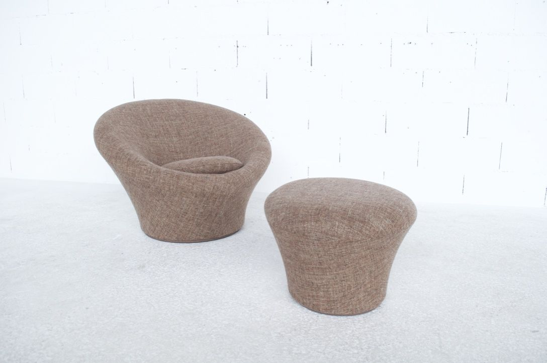Vintage Purple Easy Chair And Ottoman Mushroom By Pierre Paulin For Artifort Design Market