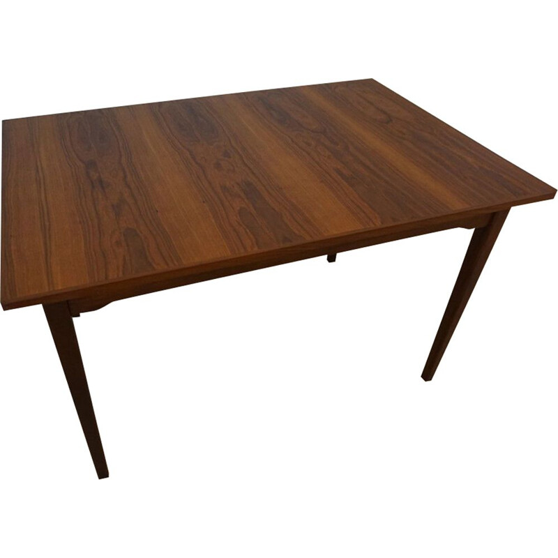 Vintage Dutch extendable dining table in teak by TopForm