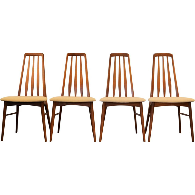 "Set of 4 vintage Danish ""Eva"" chairs by Niels Koefoed"
