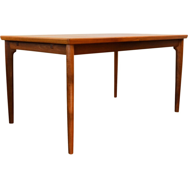 Vintage extendable dining table in teak by Grete Jalk