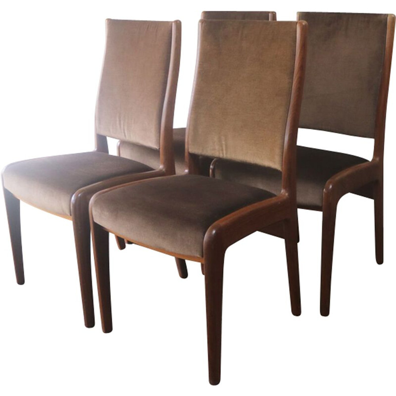 Set of 4 vintage dining chairs in teak by G Plan