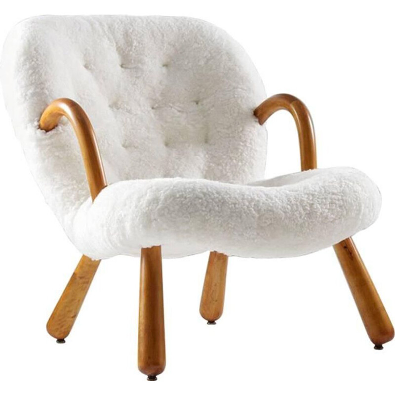 "Vintage ""Clam"" chair by Phillip Arctander"