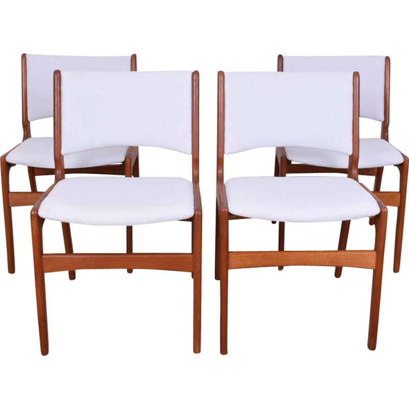 Vintage Danish set of 4 chairs model 89 by Erik Buch for Anderstrup Møbelfabrik