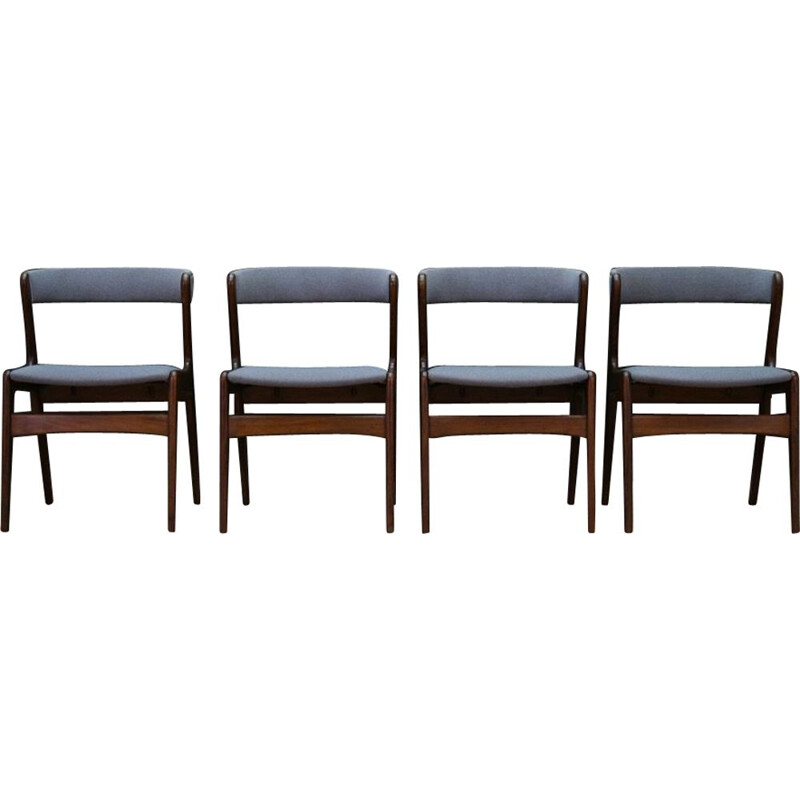 Vintage set of 4 chairs in teak by Kai Kristansen