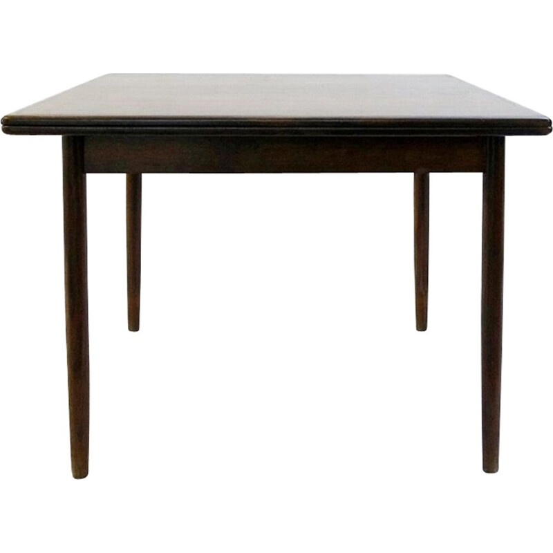 Vintage flip-top extendable table with brass hinges