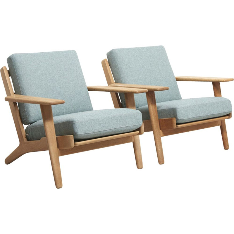 Vintage set of 2 easy chairs Model GE-290 by Hans Wegner, 1953