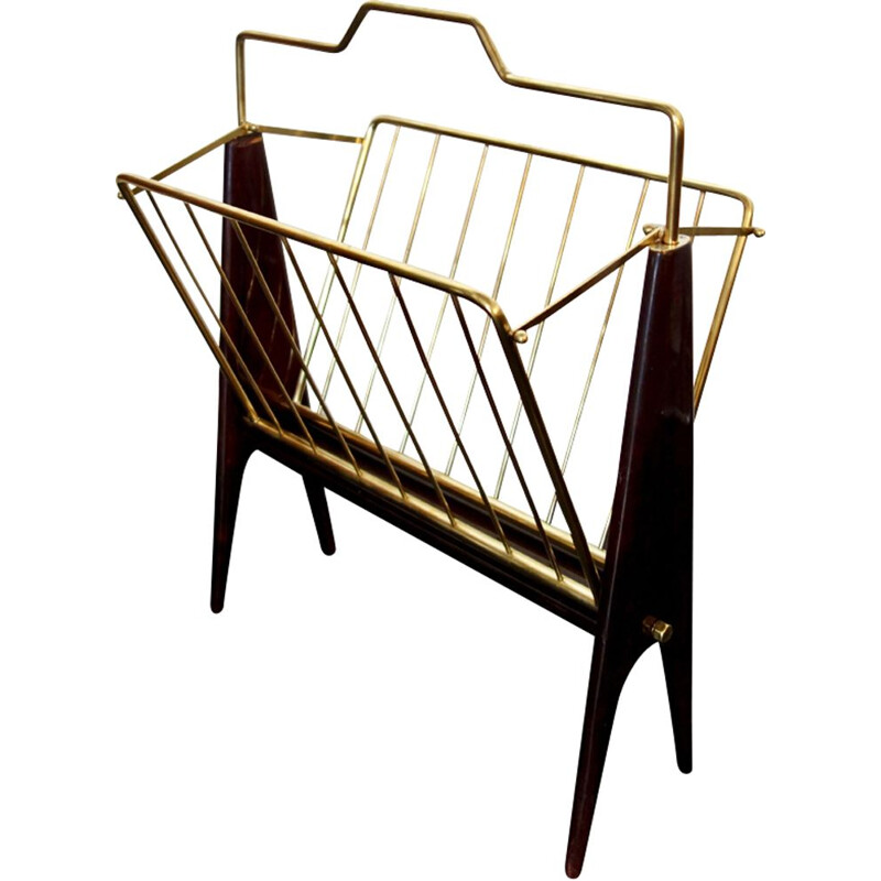 Vintage foldable magazine rack by Cesare Lacca