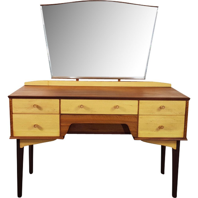Vintage dressing table with mirror by Alfred Cox