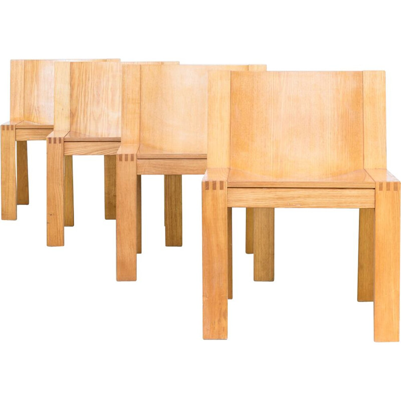 "Set of 4 vintage ""SE15"" chairs by Mazairac & Boonzaaijer for Pastoe"