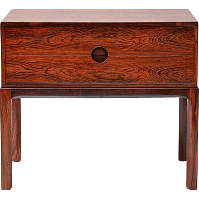 Vintage night stand in rosewood by Kai Kristiansen