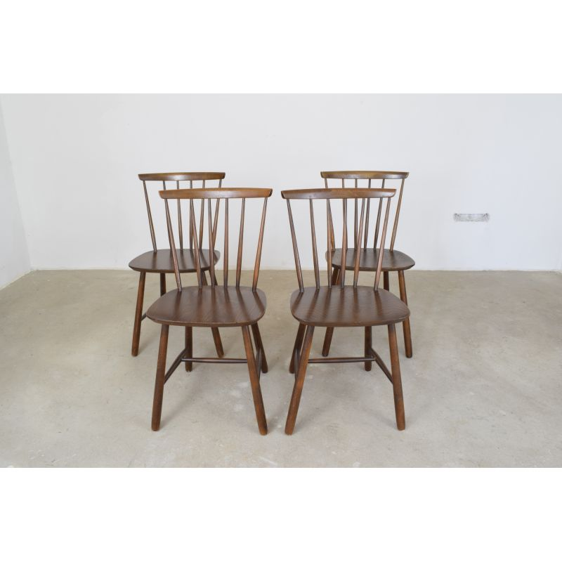 Topnotch Vintage Set of 4 Danish Dining Chairs by Farstrup Møbler - Design CR-57