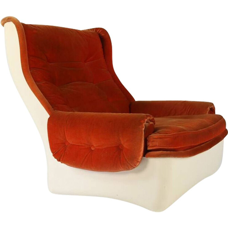 Vintage lounge chair fiberglass for Airborne