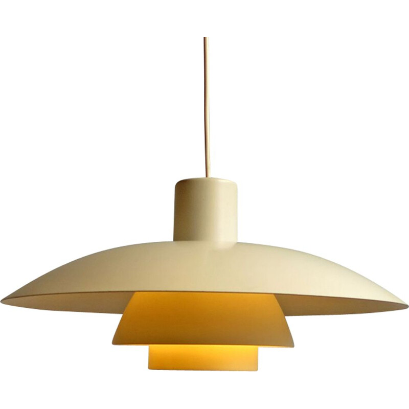 "Vintage yellow ""PH4"" pendant lamp"