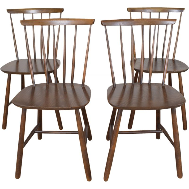 Excellent Vintage Set Of 4 Danish Dining Chairs By Farstrup Mobler Squirreltailoven Fun Painted Chair Ideas Images Squirreltailovenorg