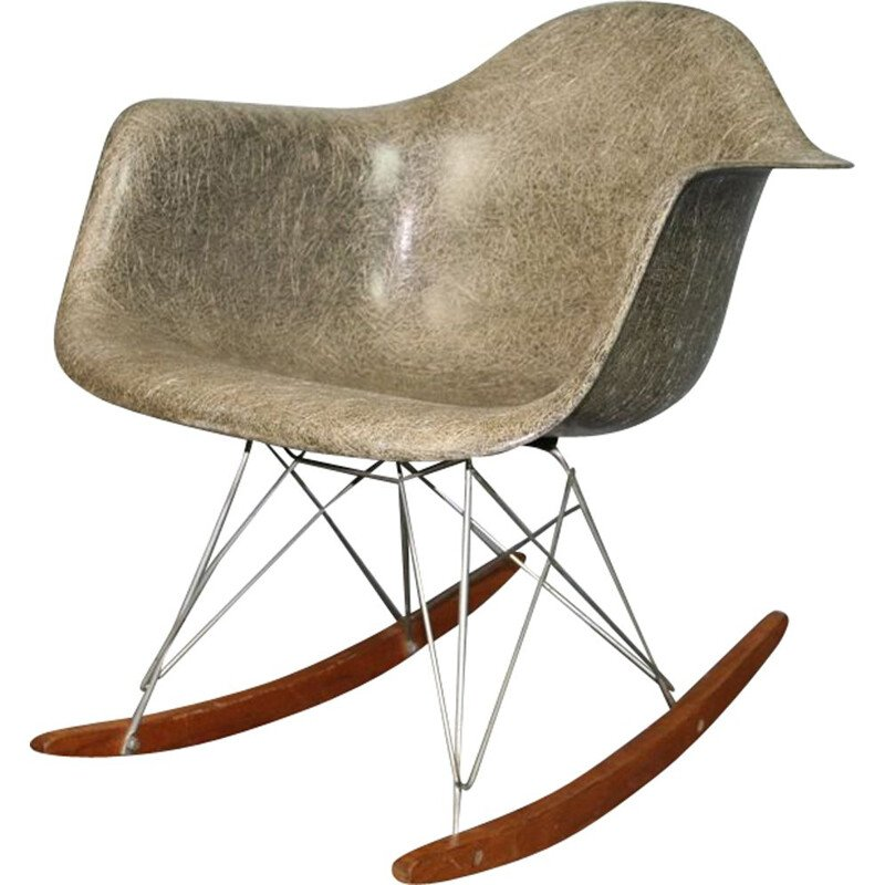 "Grey Vintage Armchair ""elephant"" by Herman Miller"