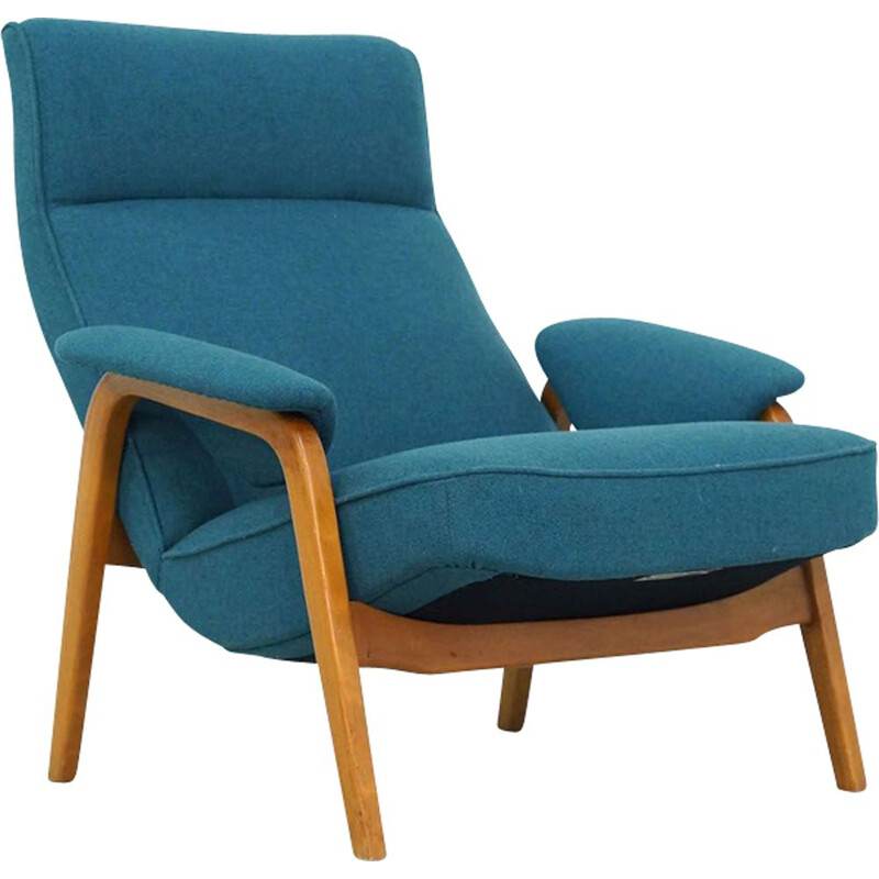 Vintage blue armchair by Theo Ruth for Artifort